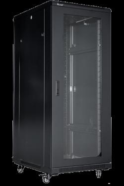 Floor Standing Cabinet, Steel Frame, front glass door, rear single perforated door